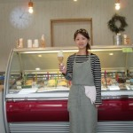 宮島にて「錫杖の梅」がジェラートとして食べられます