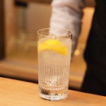 Setouchi lemon shochu highball with lemons from Hiroshima