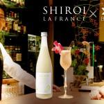可愛い(かわいい)白いラ・フランス 東広島のバーが作る、オリジナルカクテル 「パール メイデン」