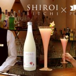 Their original cocktail 'Setsuka' made at a bar in Kure using the SHIROI series liqueur, lychee